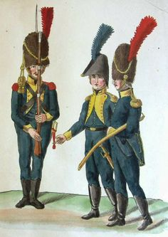 tentative identification is Carabiner and Officers of a regiment of Chasseurs a Pied. Thirty Years' War, Seven Years' War, Army Uniform, Napoleonic Wars, Historical Clothing, Warfare, Dutch, History, Fictional Characters