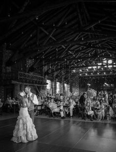 Real Wedding: Brianne and Wes West Yellowstone Wedding in the old Union Pacific Railroad building. Taylordeventssv.com