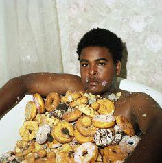 @Malinda Bonner, YOUR BOYFRIEND.... he really likes donuts... :)