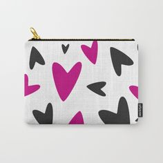 Carry-All Pouches by Francesco Salerno #shop #shopping #accessories #design #gift #giftideas #art #popstyle #coolaccessories #society6 #moda #style #fashion #hearts #carrypouch #pouch #francescosalerno