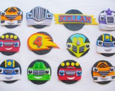 Blaze and the Monster Machines Fondant Toppers by SilvaCreations