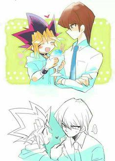 Yugi: Kaiba-Kun ayo makan es serut Kaiba: ok Mesra sekali meski tersirat All Anime, Anime Love, Anime Art, Yu Gi Oh, Yugioh Yami, Fanart, Drawing Poses, Awesome Anime, Manga