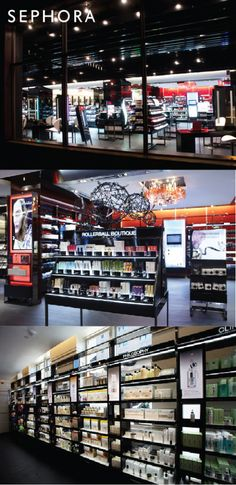 Sephora Retail Fixtures // New Design Language by Alexis Eizinas at Pharmacy Design, Retail Design, Commercial Interior Design, Commercial Interiors, Sephora, Retail Fixtures, Perfume Store, Beauty Supply Store, Cosmetic Shop