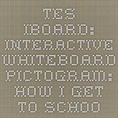 TES iboard: Interactive Whiteboard - Pictogram:  Hoe ga je naar school. Turven op het digibord