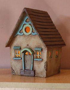 Clay House #13 | Harry Tanner Design ceramic night light lamp or garden sculpture