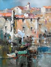 Branko Dimitrijevic - Sea View, Oil on canvas, - Oil Painting Boat Painting, Oil Painting On Canvas, Watercolor Paintings, Oil Paintings, Watercolor Artists, Indian Paintings, Abstract Paintings, Painting Art, Painting Trees
