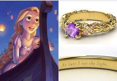 Disney princess engagement ring, Rapunzal style.
