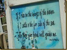 Wonderful sign by Terri of Nostalgia's Cottage