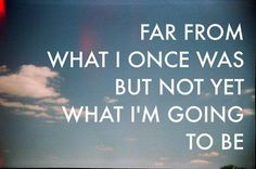 Far from what I once was but not yet what I'm going to be | Anonymous ART of Revolution