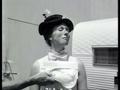 Julie Andrews behind the scenes of Mary Poppins