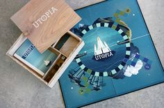 This is simply a wonderful visual feast.  Utopia Board Game by Haley Fischer, via Behance