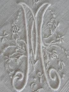 Fine Vintage Monogram M Bridal Handkerchief Wedding Heirloom | eBay