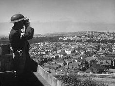 A civilian observer and plane-spotter, San Francisco, 1942.