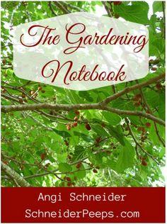 Review: The Gardening Notebook from SchneiderPeeps | PreparednessMama