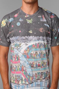 Waldo In Space Tee