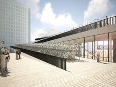 NL Architects propose bike parking canopy