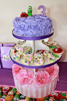 Veggie Tales Themed Birthday Cake