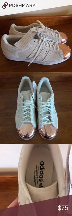 new product 61f28 79060 Adidas Superstars Rose Gold Metallic Toe Size 10.5 Beautiful and rare NEW  WITH TAGS Adidas sneakers