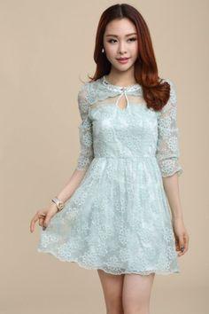 New High Quality Sweet Spring Three Quarter Dress