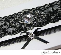 Yes I Know But Its My Wedding Can Do What Want Black And Red Garter SetMini Sash Flower By Yanethandco