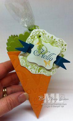 stampin up petal cone die - carrot