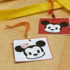 Make Your Own Mickey and Minnie Luggage Tags!