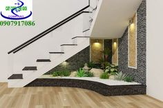 Home Tiles Design, Stair Design, Modern Wooden Doors, Exotic Homes, House Tiles, Balcony Design, Under Stairs, Small House Design, Green Kitchen