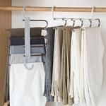 Stylish and Durable: Our metallic Pants Rack is durable, rustproof, and stylish. Space Saving Design: The adjustable storage rack can be hung steadily with t Hanging Pants, Organizar Closet, Pants Rack, Pant Hangers, Clothes Hangers, Bedroom Closet Design, Space Saving Storage, Coat Hanger, Closet Space