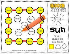 """Math + ELA combined! Learn short vowel sounds while searching for the hidden shapes. (Short """"U"""")"""