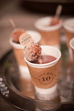 mmmm donut holes with hot chocolate :)