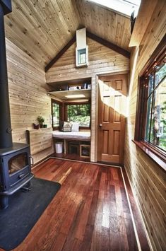 Park Model Tiny House Interior With Stairs Loft And