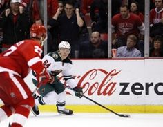 Minnesota Wild center Mikael Granlund (64) looks to shoot the puck during the third period against the Detroit Red Wings at Joe Louis Arena. Red Wings win 3-2.  #9223451