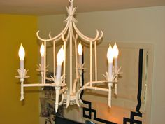 Faux bamboo chandelier