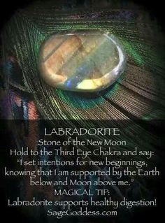 Labradorite new moon stone