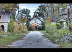 The set of the town of Spectre from the movie Big Fish. Actually located outside Montgomery, AL