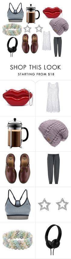 """Illuminati"" by efrat-kazoum on Polyvore featuring Bodum, The North Face, Dr. Martens, Uniqlo, NIKE, Honora and Skullcandy"