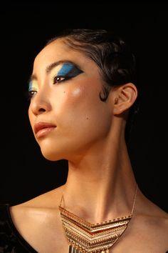 Egyptian Queen. Makeup design: Farzana Rahman. Hair stylist: Aieasha Paul.  Photography: Khaliyah Kay. Model: Marino Funahashi.