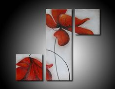 Pictures For Kitchen 5 Multi Canvas Painting, Abstract Canvas, Canvas Art, House Decoration Items, Triptych Art, 3 Piece Art, Arte Floral, Art Tutorials, Painting Inspiration