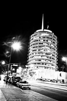 """The famous Capitol Records building. I worked here in 1998 back when web sites were """"new media. Capitol Records, California Dreamin', New Media, Golden State, Empire State Building, Picture Ideas, Places Ive Been, Past, Vegas"""
