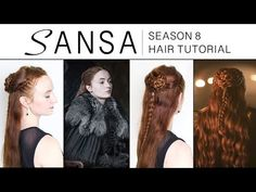 Game of Thrones Season 8 Hair Tutorial – Sansa Stark – Jessica Thompson – hairtrends Easy Chignon, Chignon Hair, Prom Hair Updo, Plait Hair, Trending Hairstyles, Cool Hairstyles, Sansa Stark Costume, Second Day Hairstyles, Updo Tutorial