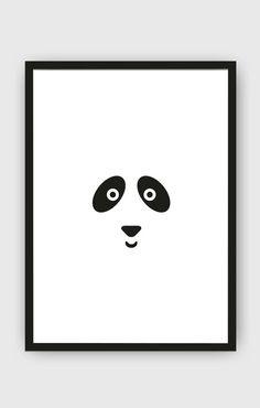 Panda Bear Kids Poster / Minimalist Kids Room / Kids Decor / Toddler Room / Children Poster / Minimal Nursery / Black and White Kids Poster