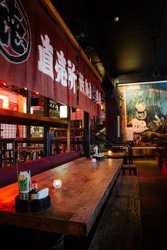 Heya Fortitude Valley, Brisbane: There's a little surprise around every corner at Fortitude Valley's Japanese basement bar Heya. Japanese Restaurant Interior, Japan Interior, Ramen Bar, Ramen Shop, Cafe Restaurant, Restaurant Design, Sushi Bar Design, Chinese Bar, Japanese Bar