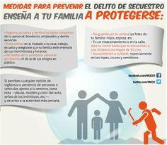 Medidas para prevenir el secuestro #Seguridad #Infografía
