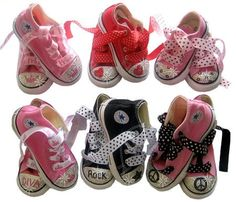 Fashionable Swarovski Converse Sneakers | bling baby toddler shoes - starting at $103 #mommycouturedesigns