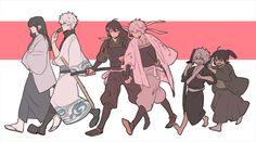 Tags: Fanart, Gin Tama, Pixiv, Sakata Gintoki, Katsura Kotaro, Shiroyasha, Fanart From Pixiv, Jim, Joui War