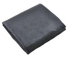 USB Seat Cushion Heated Shawl and Lap Blanket (Black)