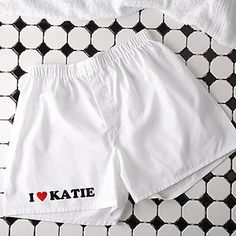 """I'm pretty sure Kevin needs these... only they probably shouldn't say """"Katie"""""""