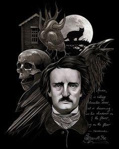 Every day is Halloween: Photo Calvin Y Hobbes, Edgar Allen Poe, Edgar Allan, Origin Of Halloween, Horror Shirts, Poe Quotes, Gothic Artwork, Goth Art, Arte Horror