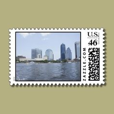 Skyline on the Water Postage Stamps