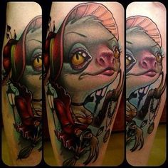 Love this New School sloth in Victorian fashion. #InkedMagazine #sloth #tattoo #Victorian #tattoos #Inked #ink #art